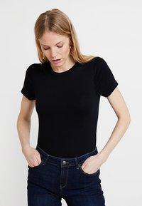GAP - MOD CREW - Basic T-shirt - true black - 0