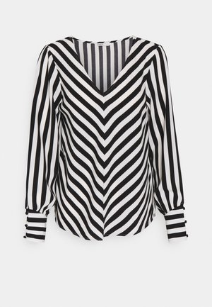 ONLUMA - Blouse - black/ white