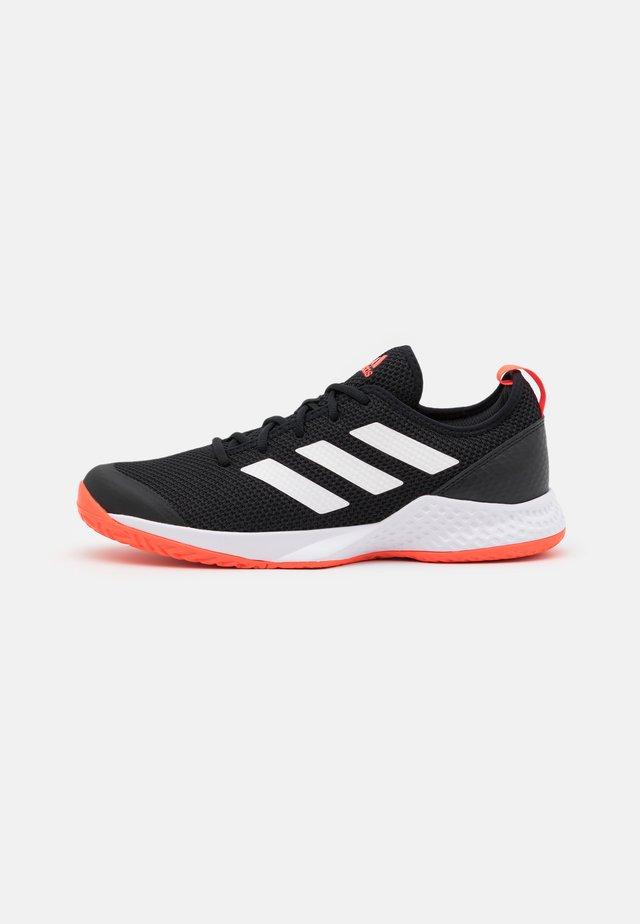 COURT CONTROL - Tennisschoenen voor alle ondergronden - core black/footwear white/solar red