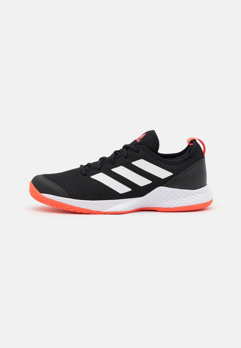 adidas Performance - COURT CONTROL - Tenisové boty na všechny povrchy - core black/footwear white/solar red
