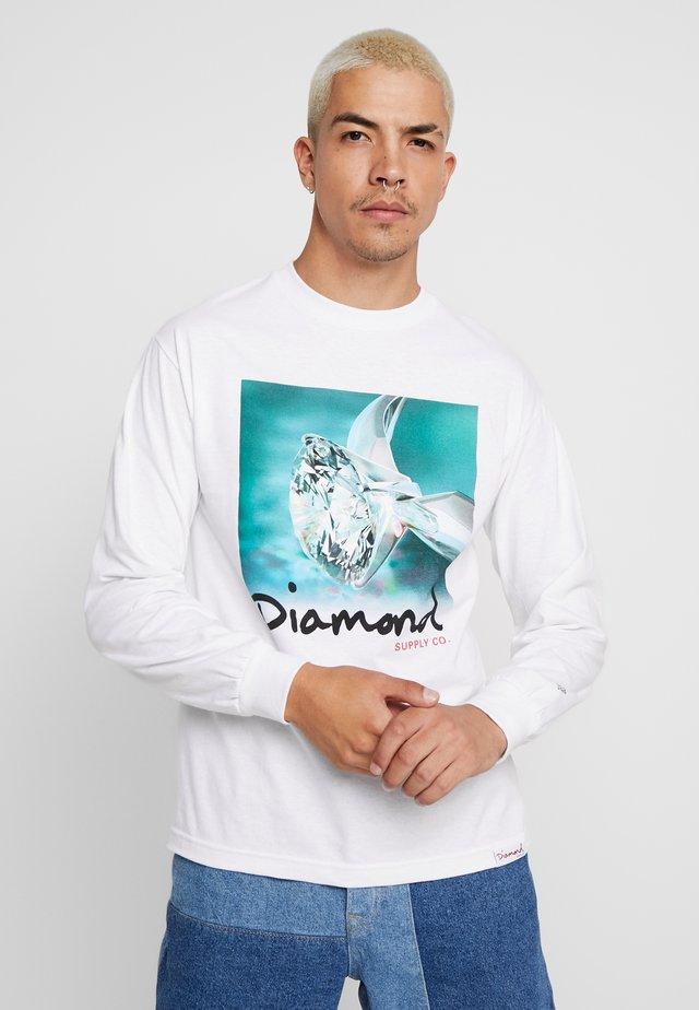 SHIMMER TEE - Long sleeved top - white