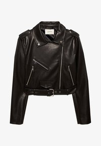 Stradivarius - Faux leather jacket - black - 4