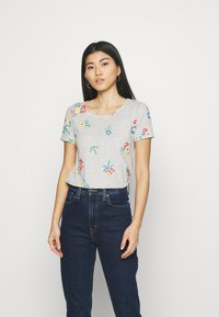 Anna Field - T-shirts med print - mottled grey - 0