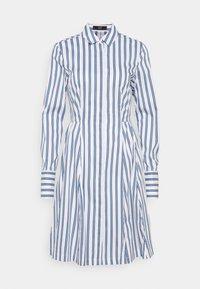 SUMMER DRESS - Shirt dress - white/blue