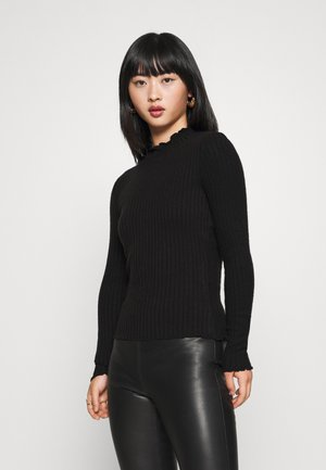 NMBERRY HIGH NECK - Jumper - black