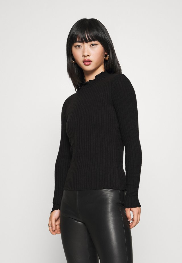 NMBERRY HIGH NECK - Pullover - black
