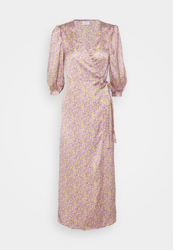 VIDOLETTA LILAC 3/4 WRAP DRESS
