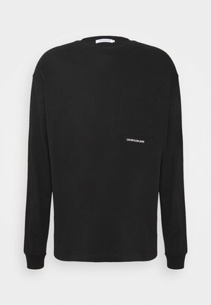 MICRO ESSENTIAL POCKET UNISEX - Langarmshirt - black