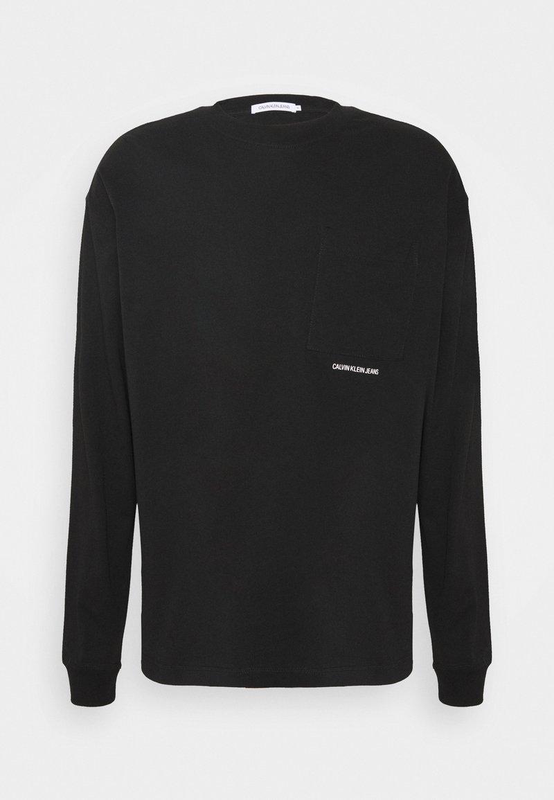Calvin Klein Jeans - MICRO ESSENTIAL POCKET UNISEX - T-shirt à manches longues - black