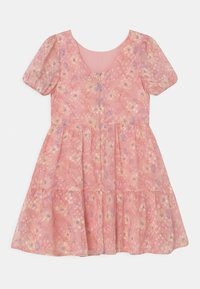 Chi Chi Girls - GIRLS PUFF SLEEVE TEXTURED FLORAL PRINT DRESS - Koktejlové šaty/ šaty na párty - pink - 1