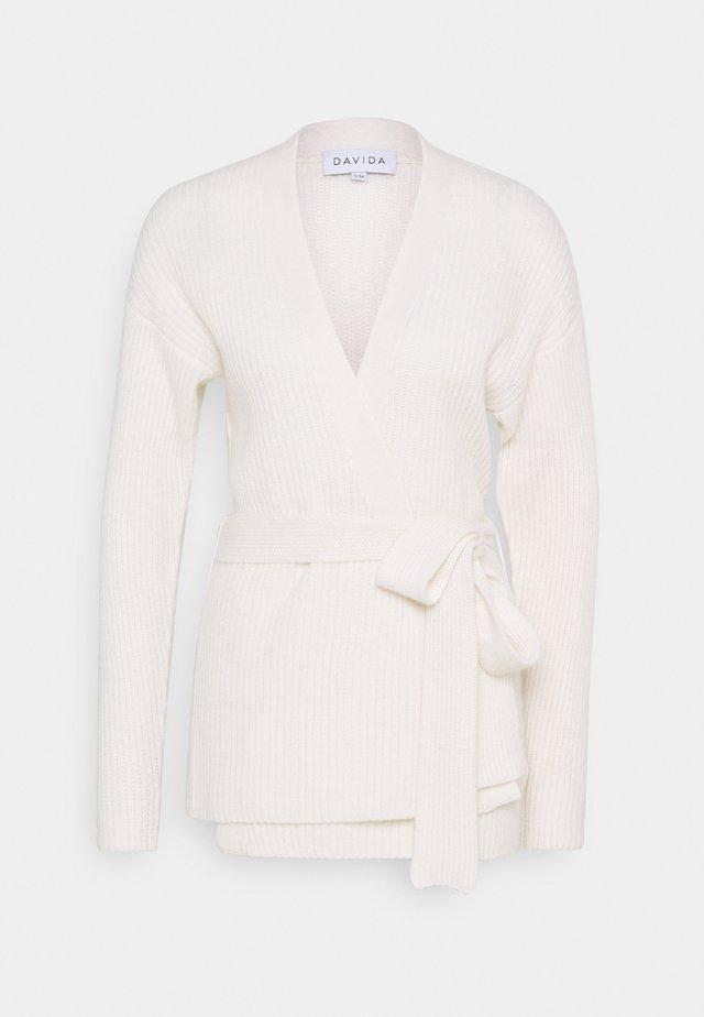 KIMONO - Cardigan - white