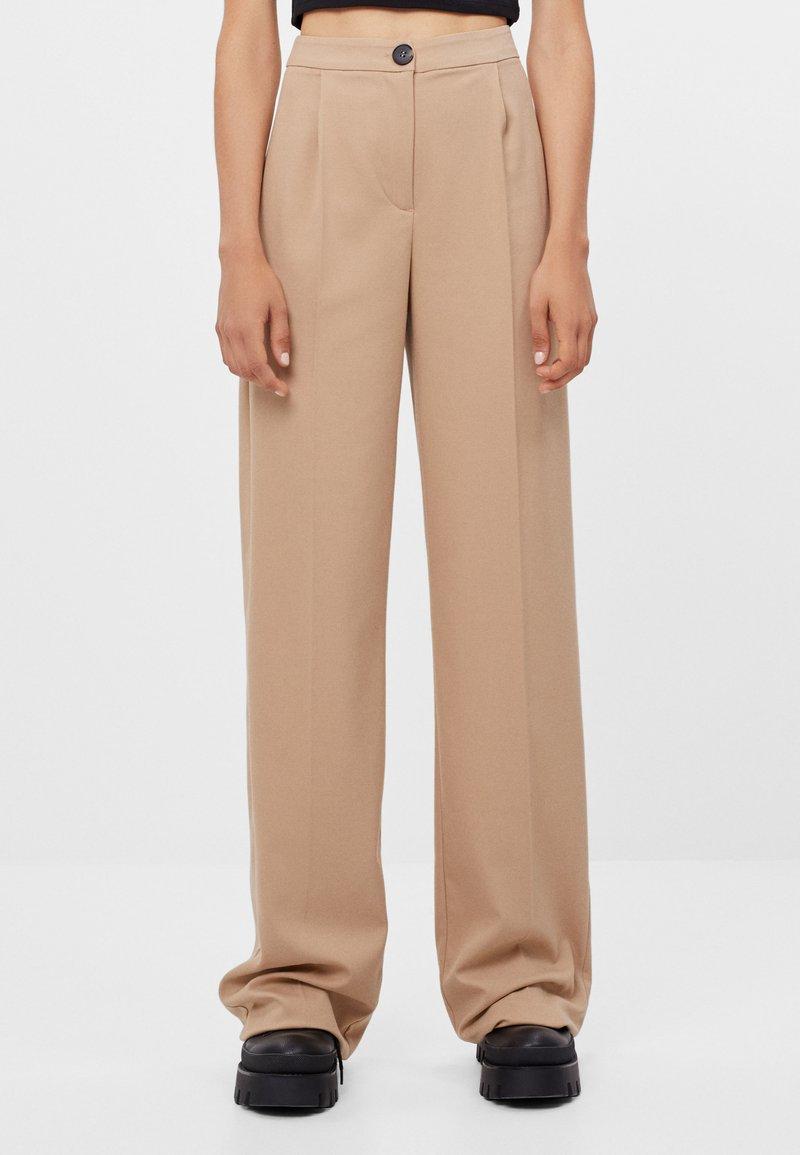 Bershka - Trousers - beige