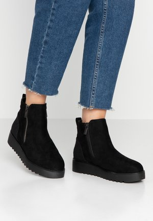 NEW SCHOOL - Korte laarzen - black