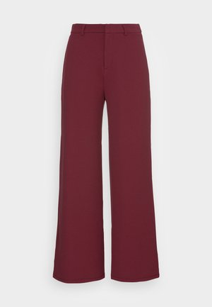 FLARED BUSINESS PANTS  - Trousers - dark red