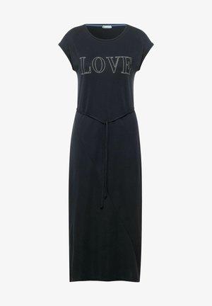MIT PARTPRINT - Jersey dress - grau