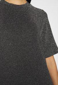 Monki - IZZY DRESS - Jersey dress - black/silver - 5