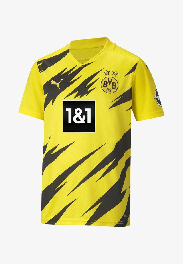 Print T-shirt - cyber yellow- black