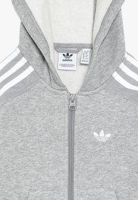 adidas Originals - OUTLINE HOODIE - Tepláková souprava - medium grey heather/white - 5