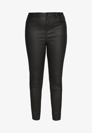 VMSOPHIA SMOOTH COATED PANT  - Bukse - black/coated