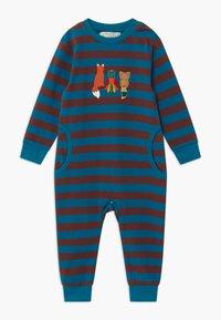 Sense Organics - STRINDBERG BABY ROMPER - Pyžamo - brown/blue - 0