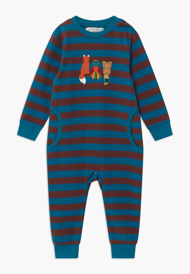 STRINDBERG BABY ROMPER - Pigiama - brown/blue