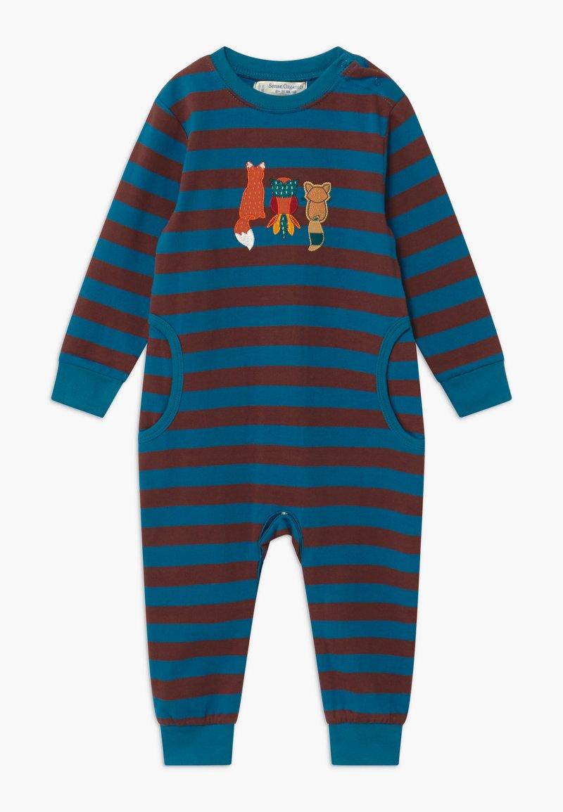 Sense Organics - STRINDBERG BABY ROMPER - Pyžamo - brown/blue