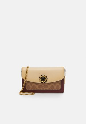 COLORBLOCK COATED SIGNATURE PARKER CROSSBODY - Across body bag - tan/ice