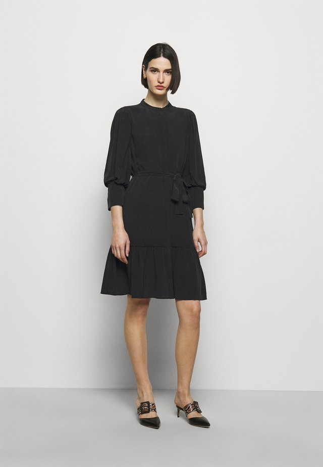 LILLIE DAISY DRESS - Shirt dress - black