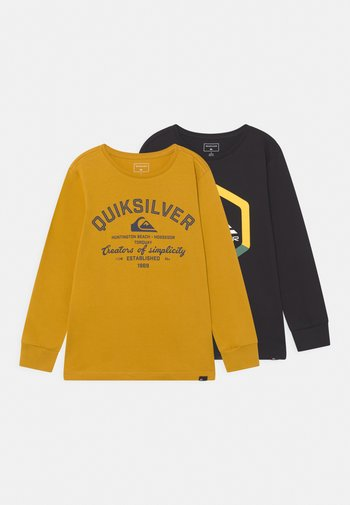 SIMPLE BOLD TEE YOUTH 2 PACK  - Maglietta a manica lunga - nugget gold/black