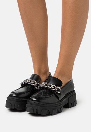 GLACE AVEC GROSSE CHAINE - Platform heels - black