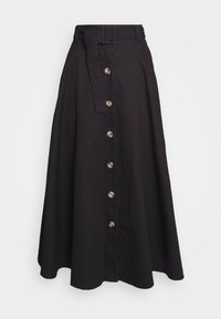 THE BELTED CIRCLE SKIRT - A-line skirt - black