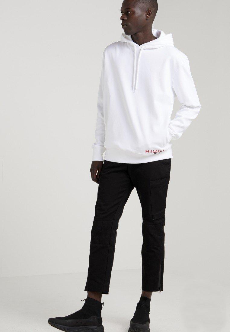 HUGO - DUNISEX - Bluza z kapturem - weiß