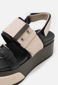 MAX&Co. - HARBOUR - Platform sandals - beige - 4