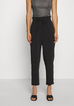FLUID DRAWSTRING  - Trousers - black