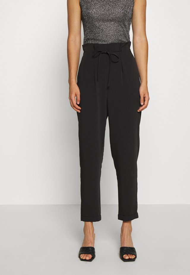 FLUID DRAWSTRING  - Pantalones - black