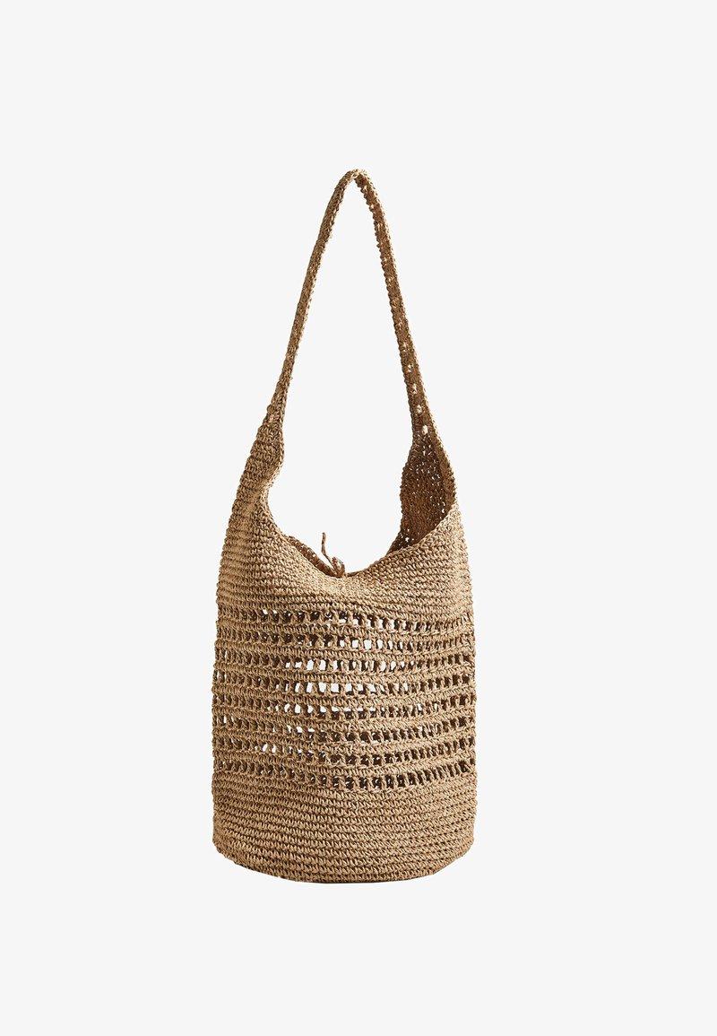 OYSHO - OPENWORK - Handbag - beige