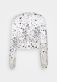 Topshop Tall - TALL TIE FRONT BLOUSE - Blouse - mono - 1