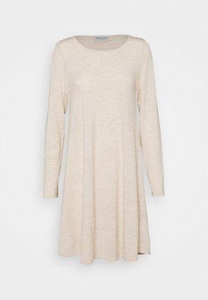 Gebreide jurk - beige melange