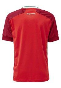 adidas Performance - HUNGARY HFF HOME AEROREADY JERSEY - Club wear - red - 2