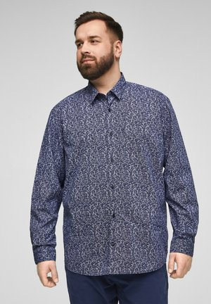 Shirt - mottled dark blue