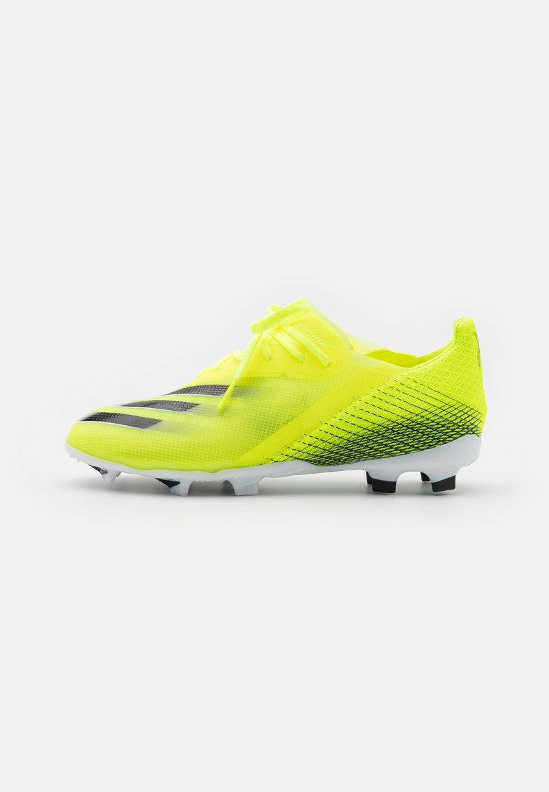 adidas Performance - X GHOSTED.1 FG UNISEX - Moulded stud football boots - solar yellow/core black/royal blue