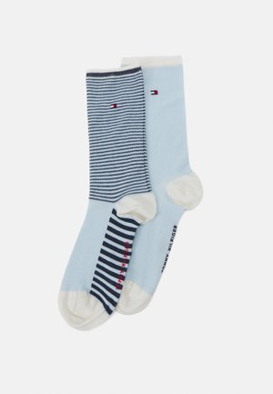 WOMEN SOCK SUMMER STRIPE 2 PACK - Socks - white
