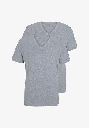 2 PACK - Basic T-shirt - middle grey melange