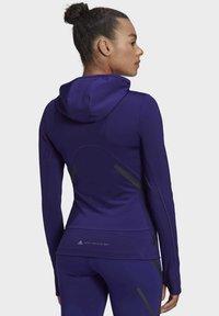adidas by Stella McCartney - TRUEPACE HOODED LONG SLEEVE MIDLAYER TOP - Bluza z kapturem - purple - 2