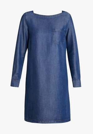 DRESS TUNIQUE STYLE BREAST POCKET - Jeanskleid - blue indigo