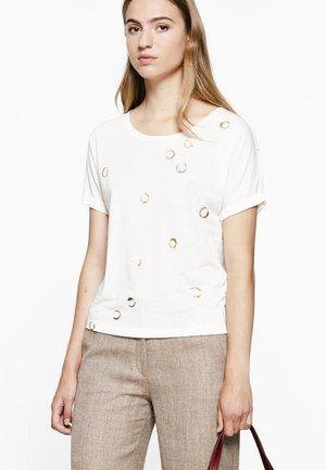 DUZ RIRI - T-shirt print - natural
