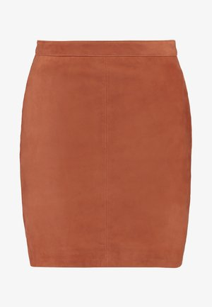 OBJCHLOE  - Pencil skirt - brown patina