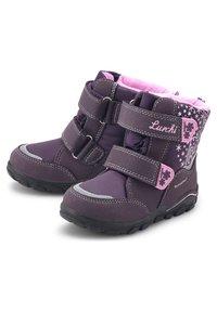 Lurchi - KINA-SYMPATEX - Touch-strap shoes - dunkellila - 2