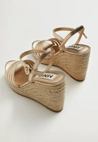 Mango - GIRL - High heeled sandals - oro - 1
