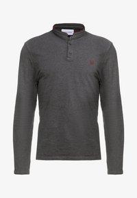 The Kooples - POLO - Poloshirts - asphaltgreymel/burgundy - 4
